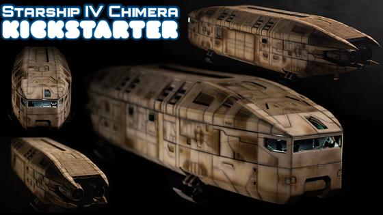 Starship IV Chimera - Modular 3D Printable 28mm Spaceship