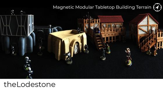 Magnetic Modular Wargaming Tabletop Building Terrain 28mm