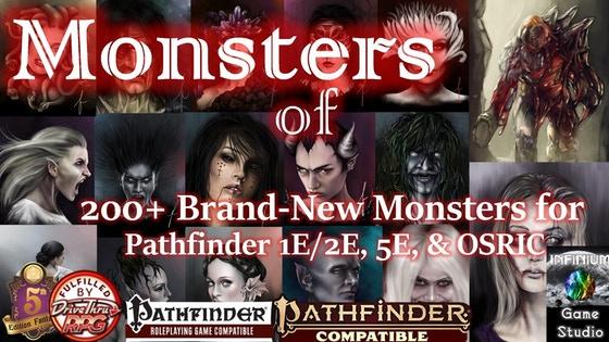 Monsters of Aquilae: 200+ Brand-New Creatures for 5E/P1E/P2E