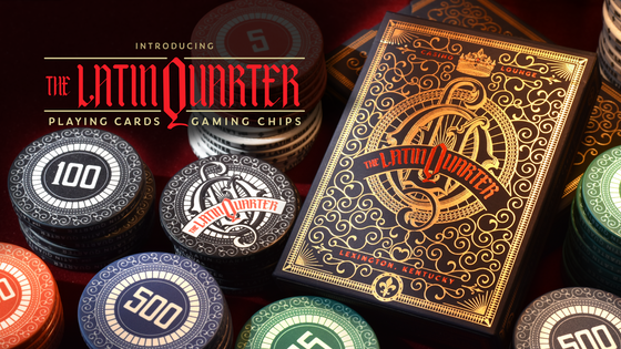 Latin Quarter Playing Cards and Gaming Chips