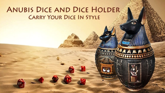 Anubis Dice and Dice Holder - Carry Your D&D Dice In Style