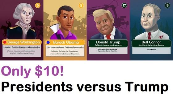 Presidents v. Trump RELAUNCH: A fun-filled 30-min. card game