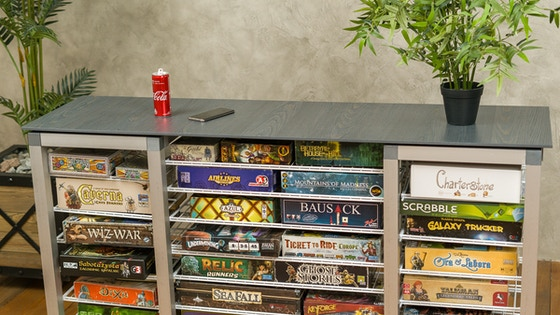 Modular Board Games Organizer without any tools assemble