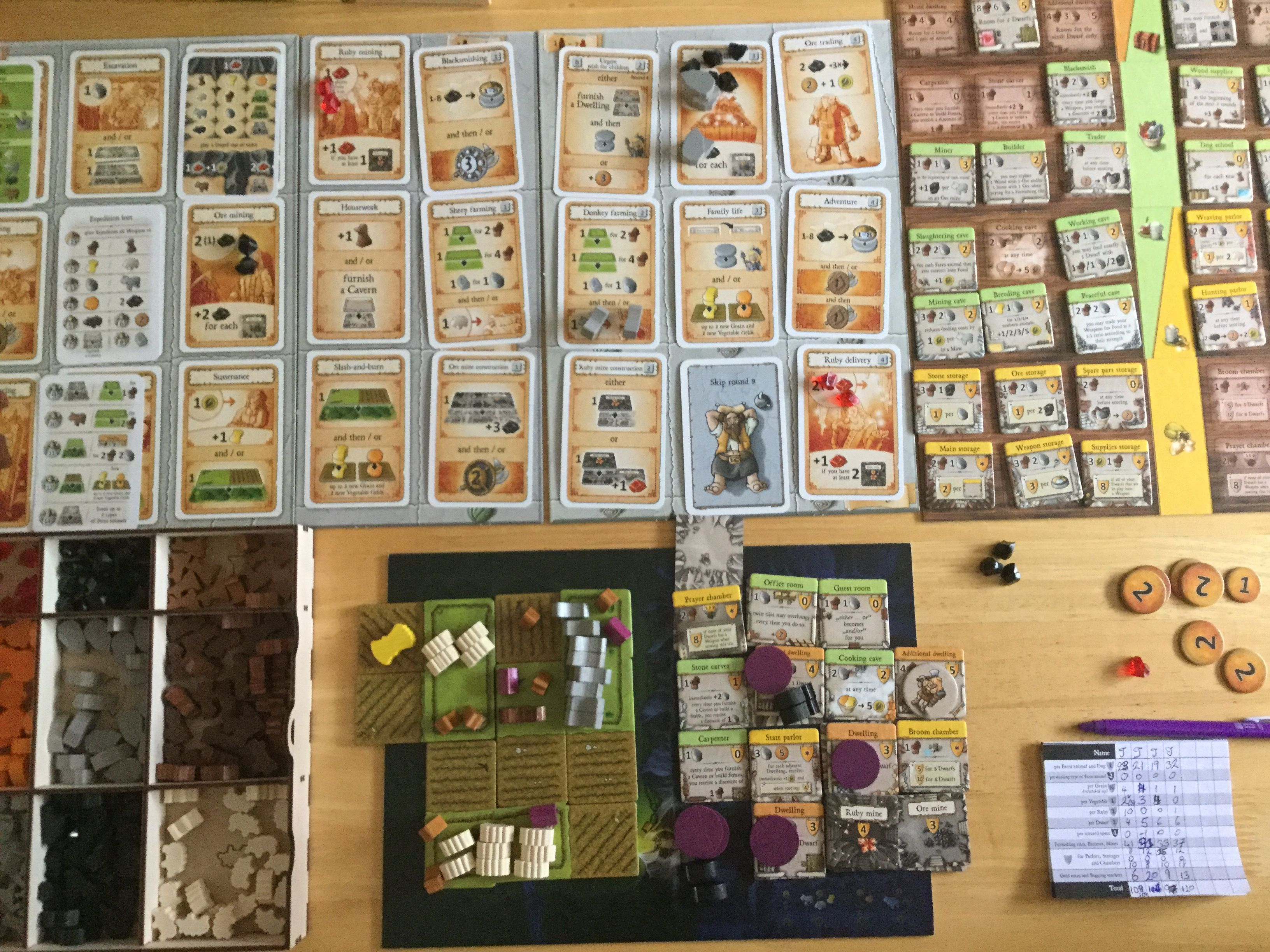 Caverna The Cave Dwellers Worker Placement Board Game