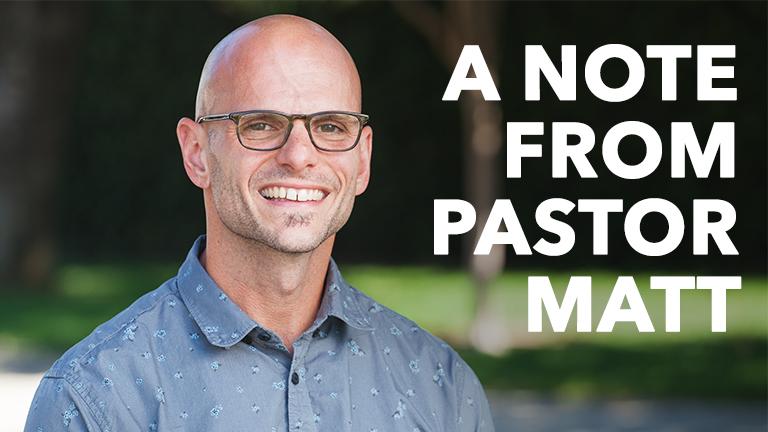 Who's Next Update from Pastor Matt