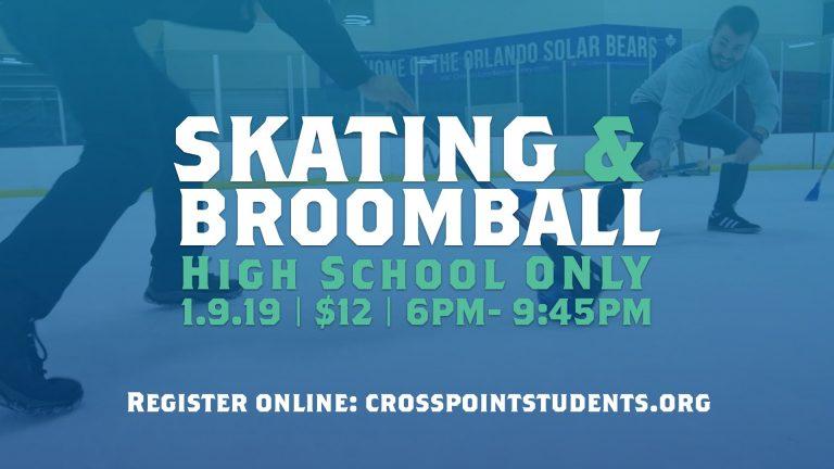 High School Ice Skating and Broomball