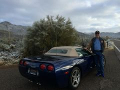 New Years Day 2015-Mike and his new Vette-Gates Pass