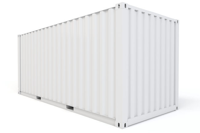 20 ft, Single-Door, Storage Container