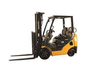 6000 lb, Quad Mast, Cushion Tire, Warehouse Forklift