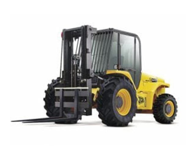 6000 lb Rough Terrain 21 ft Straight Mast Forklift