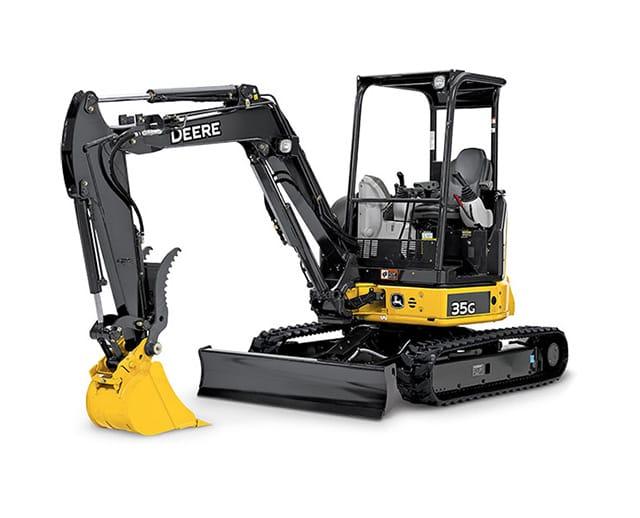 7,500 lbs, Mini Excavator