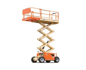 26 ft, Rough Terrain Scissor Lift