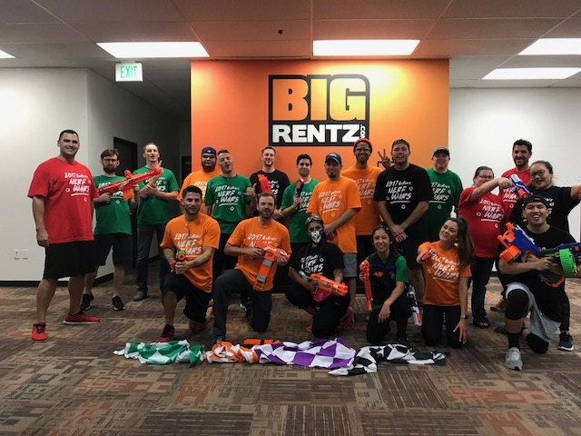 Pew Pew! BigRentz Staff Competes in Third Annual Nerf War
