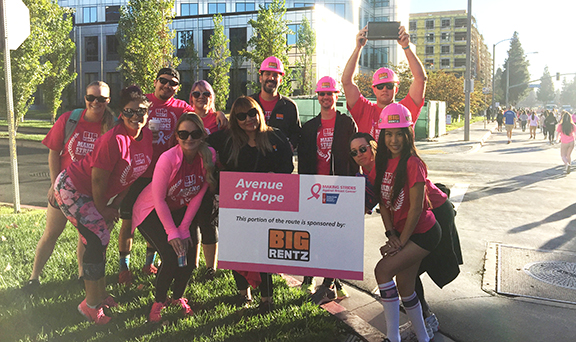 BigRentz Making Strides Against Breast Cancer