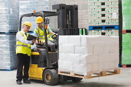 Forklift in Warehouse Use