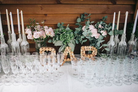 Wedding Reception Bar Arrangement