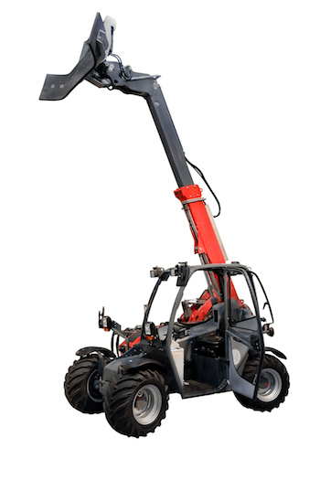 Telehandler with attachment