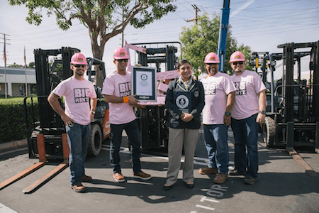 BigRentz Raises Money for Breast Cancer