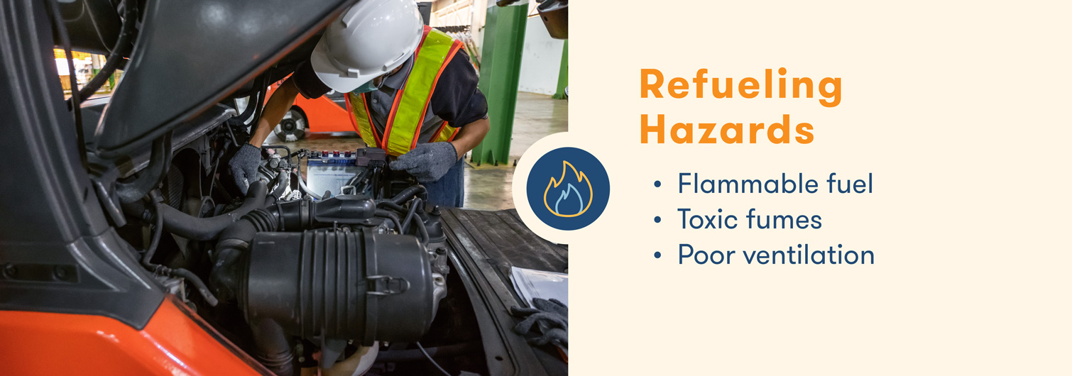 forklift hazards with refueling