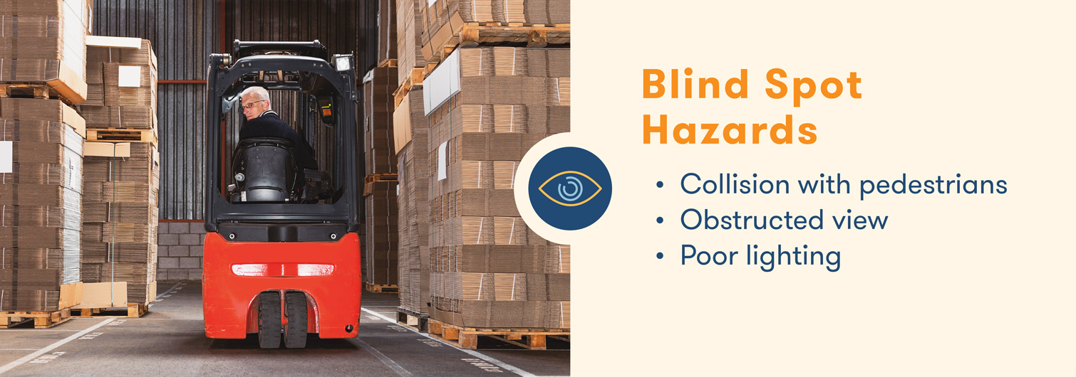 forklift hazards with blind spots