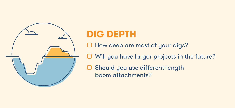 Digging depth