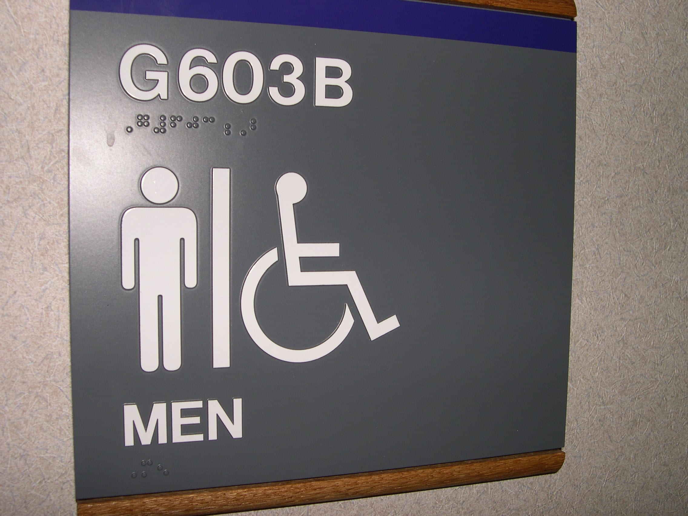 Accessible Sign To Accessible Bathroom