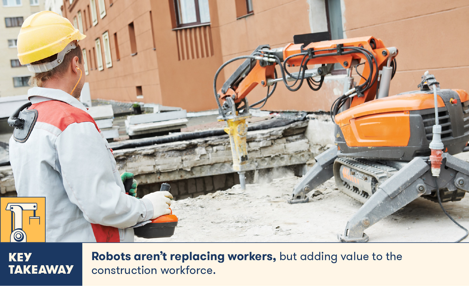 Construction robots are supporting the construction industry