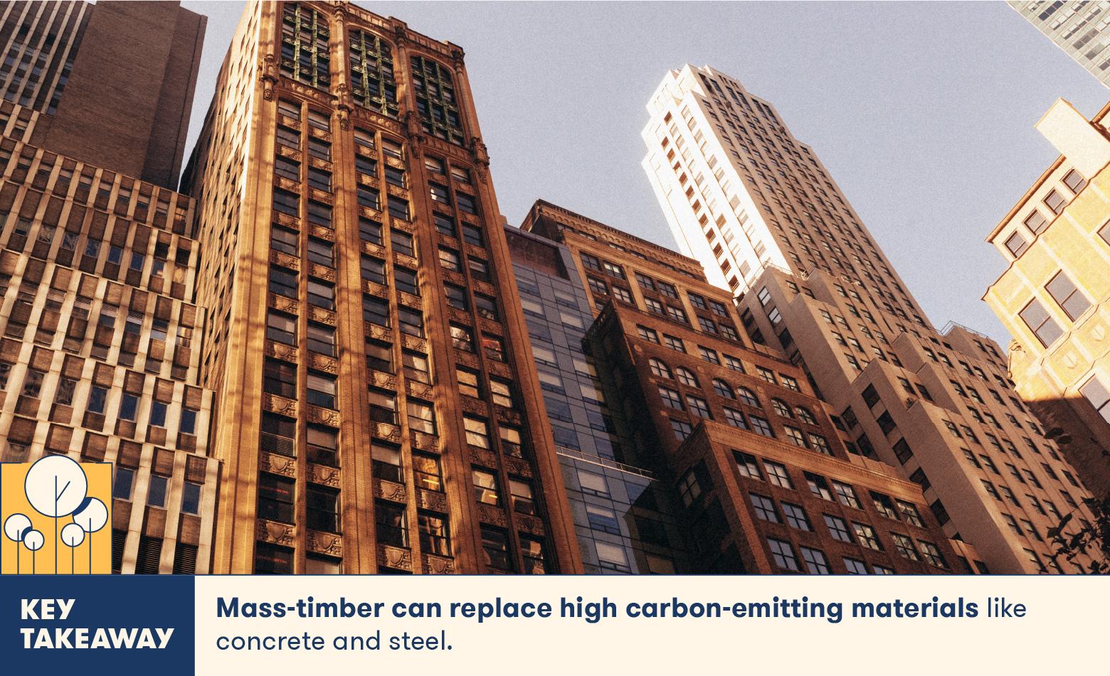 Mass timber can replace high carbon-emitting materials