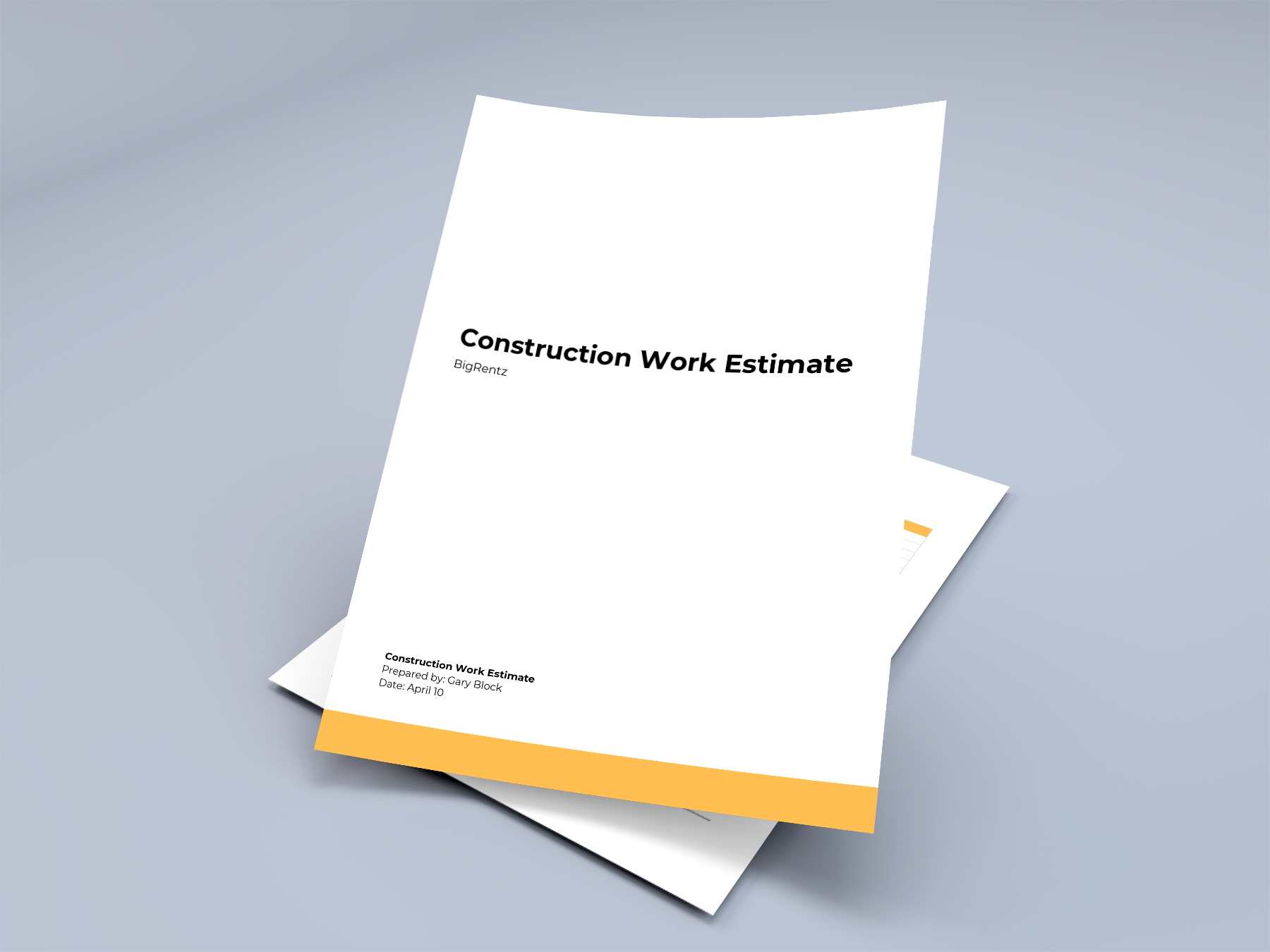 Construction Estimate Template (Free Downloadable PDF, DOC, EXCEL)