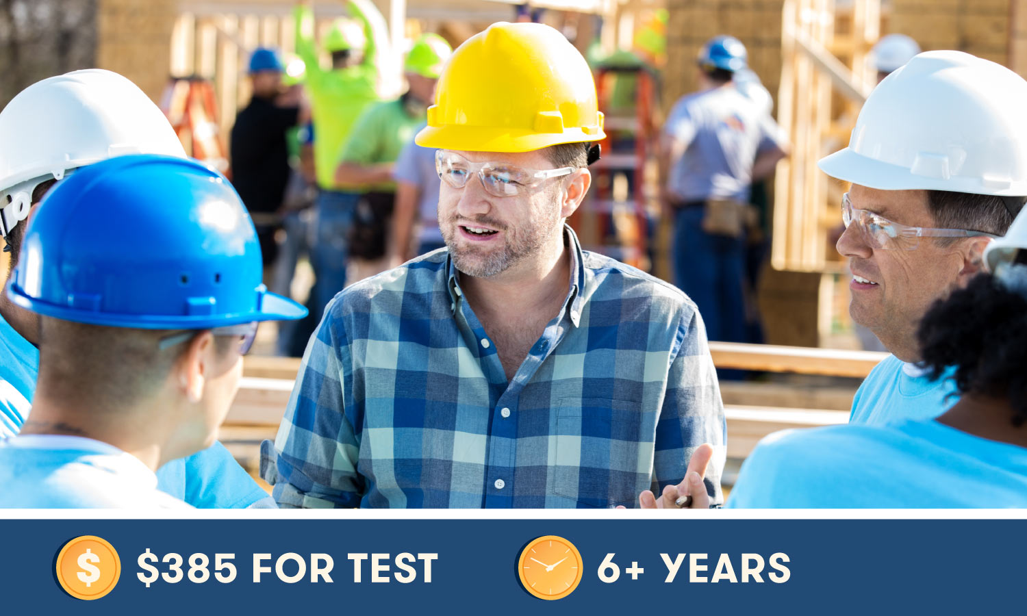 Construction Management Association of America—Certified Construction Manager (CCM) costs $385 for the test and 6+ years