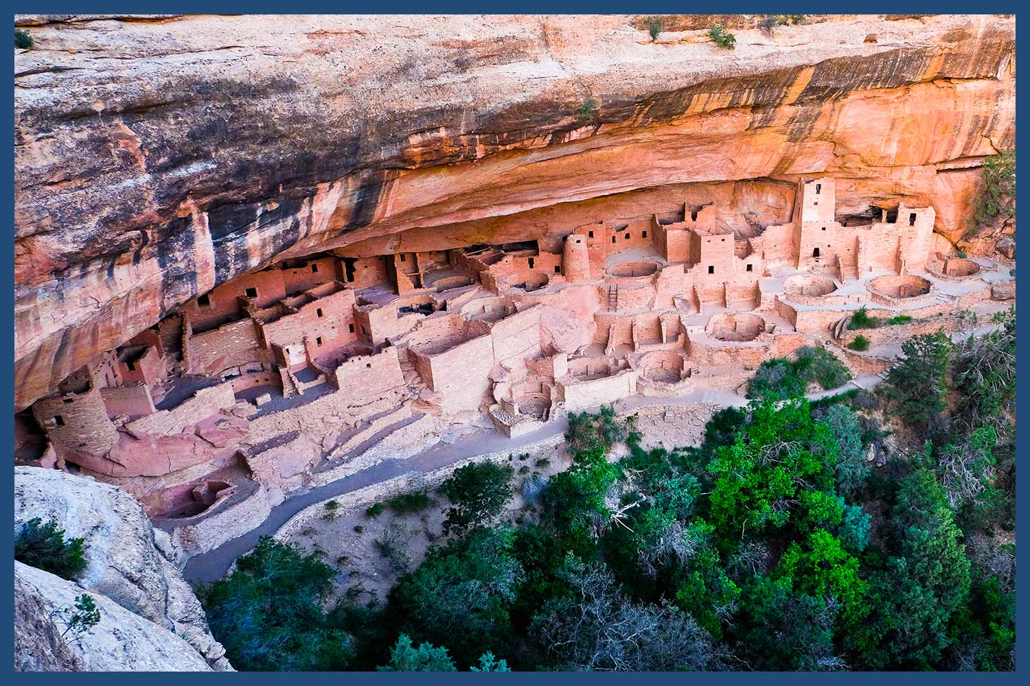 Cliff Palace Ancestral Puebloan Dwellings in Colorado