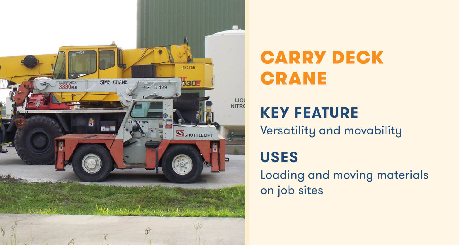 carry deck crane key feature versatile