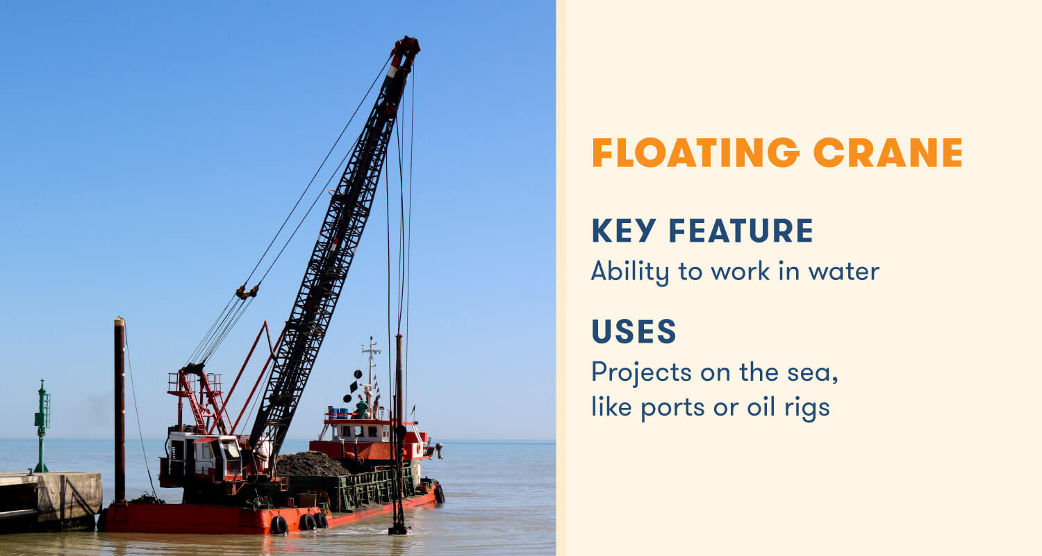 floating crane key feature work in water