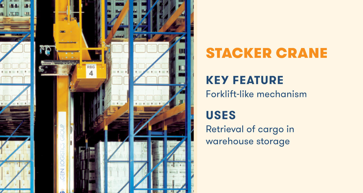 stacker crane key feature forklift-like mechanism