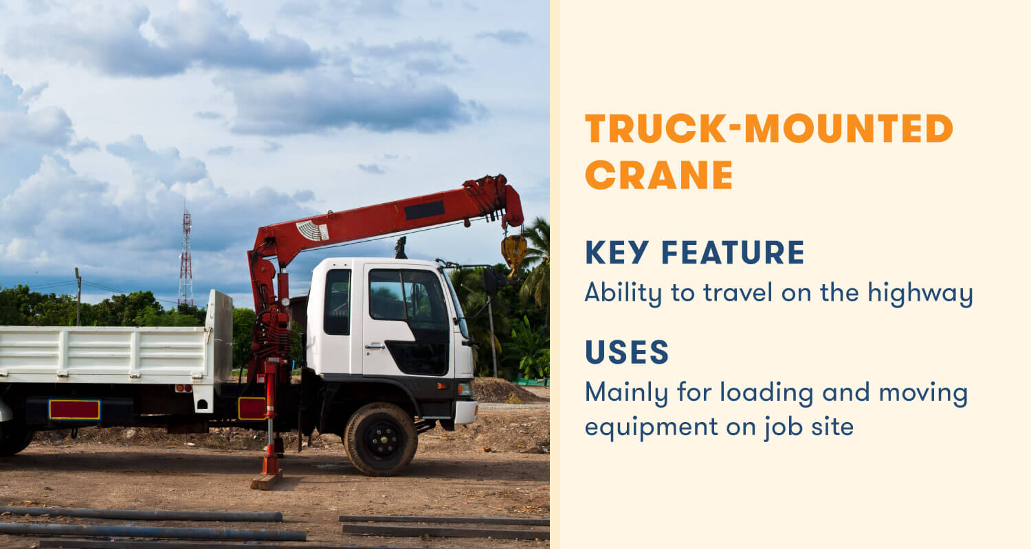 truck mounted crane key feature travel on highway