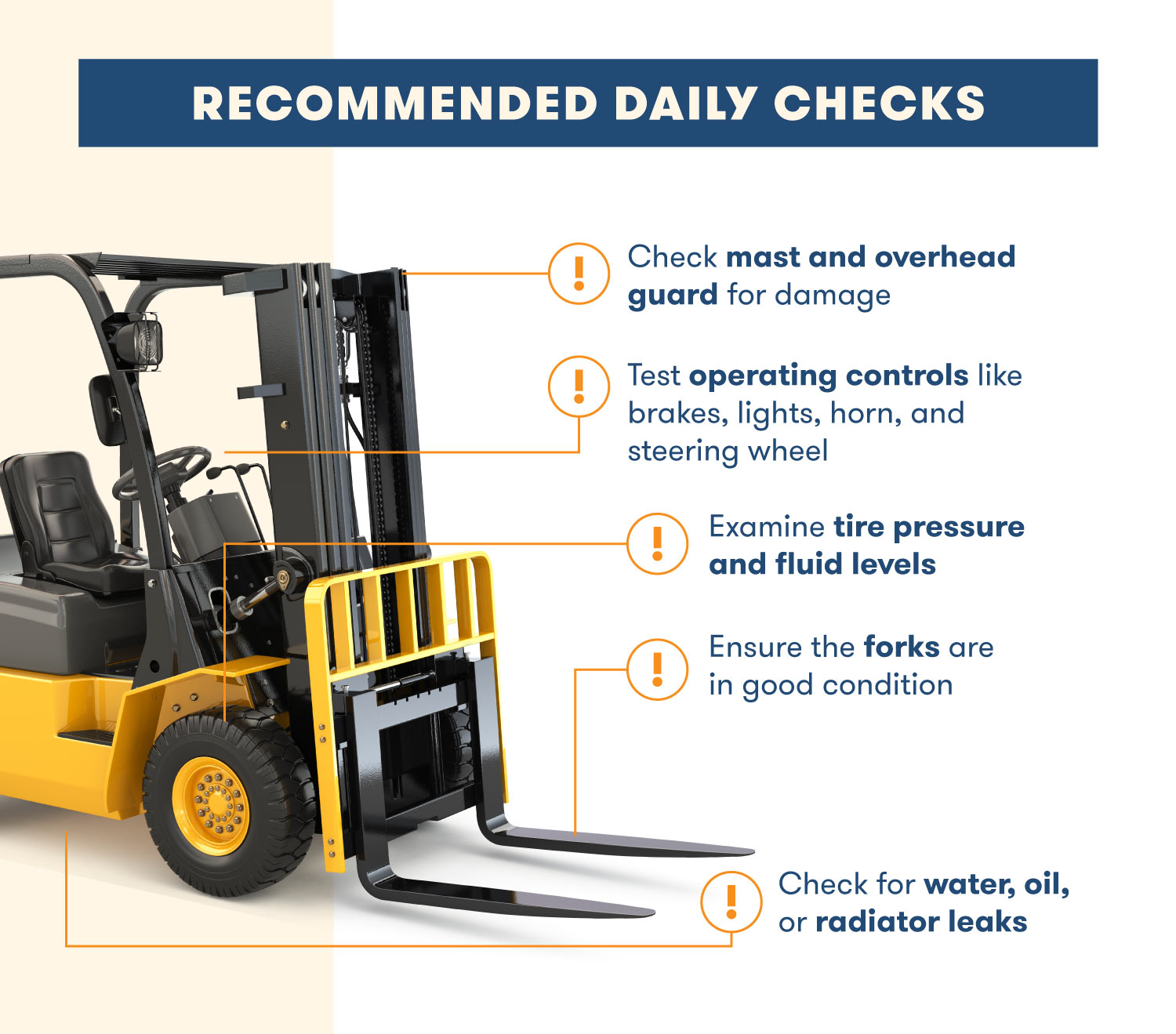 forklift recommended checklist
