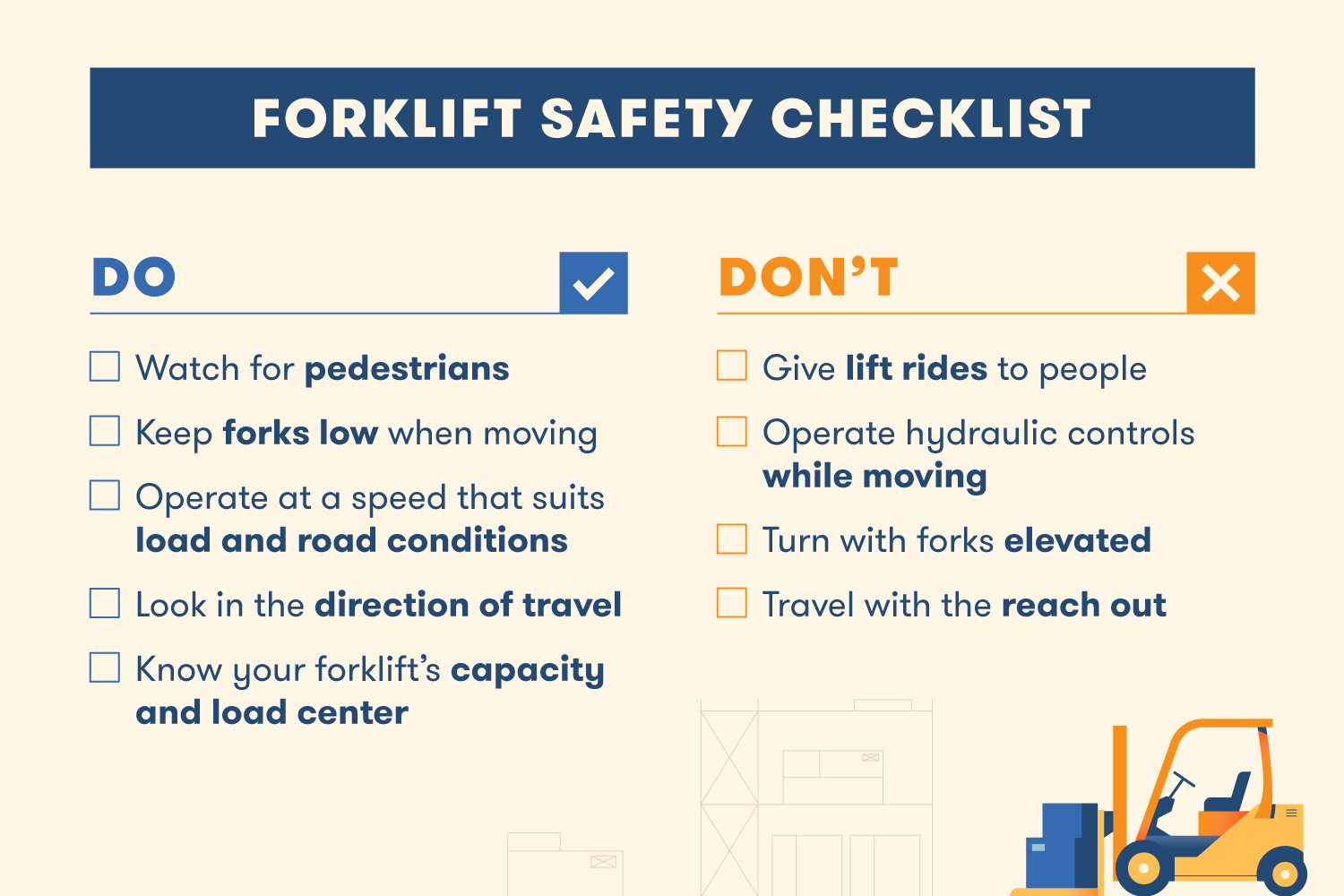 forklift safety checklist