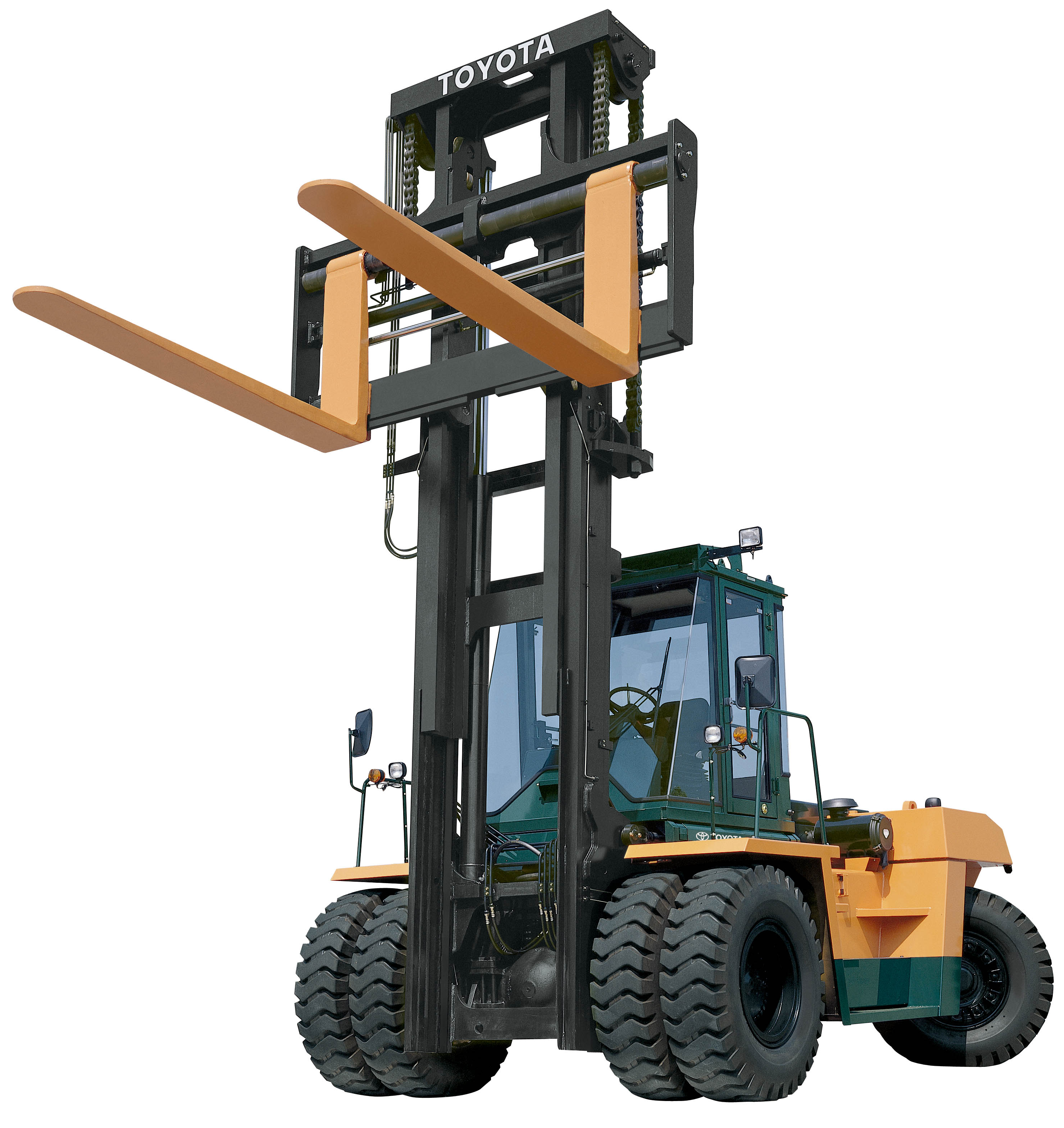6,000 lb Rough Terrain Straight Mast Forklift