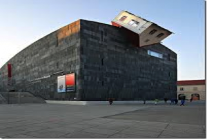 house attack - cliff hanging house in vienna