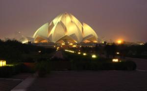 lotus temple glows