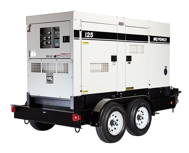100 kW / 125 kVA Towable Diesel Generator