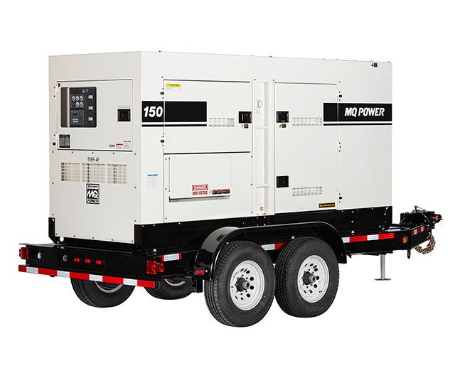 120 kW / 150 kVA Towable Diesel Generator