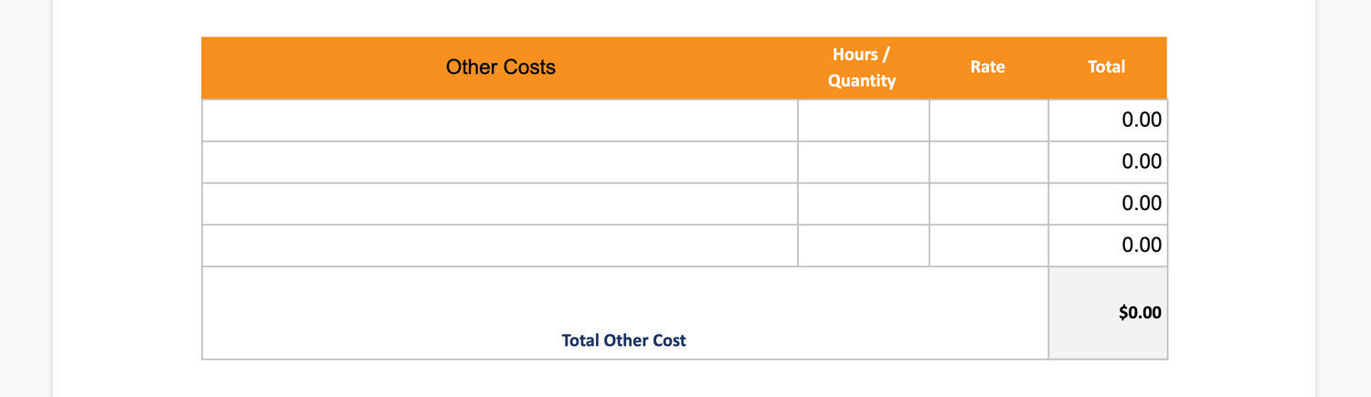 other or indirect costs