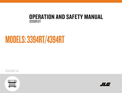 scissor lift operation and safety manuals bigrentz jlg scissor lift models 3394rt