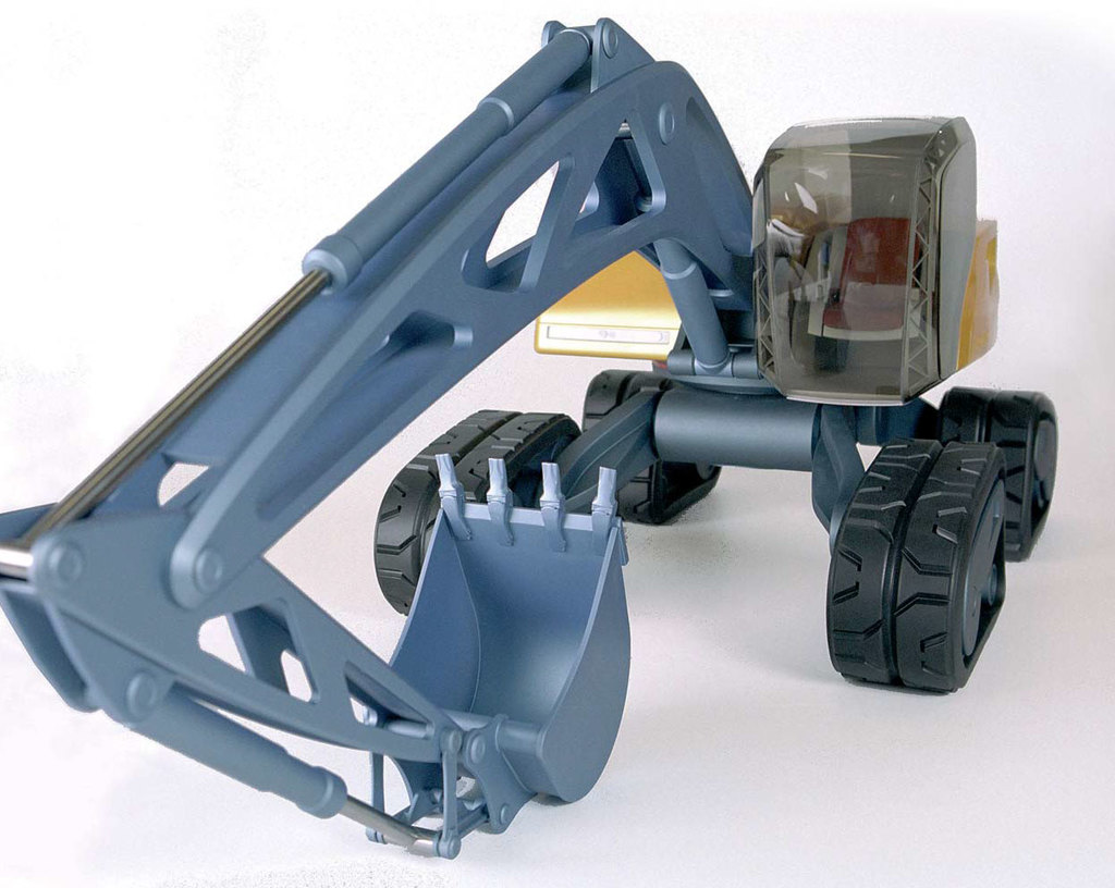 A Futuristic Excavator That Works Hard and Looks Cool