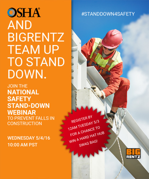 Image of BigRentz Teams Up With OSHA To Stand-Down For Safety In Nationwide Webinar