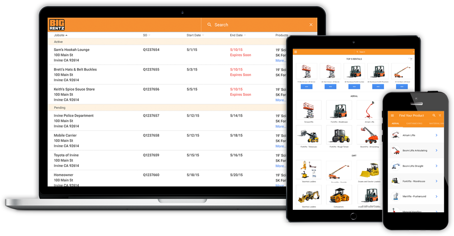 BigRentz Launches Online Customer Portal to Simplify Equipment Rental