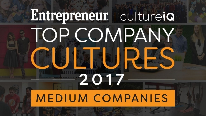 BigRentz Ranked Among 2017 Top Company Cultures by Entrepreneur Magazine and CultureIQ