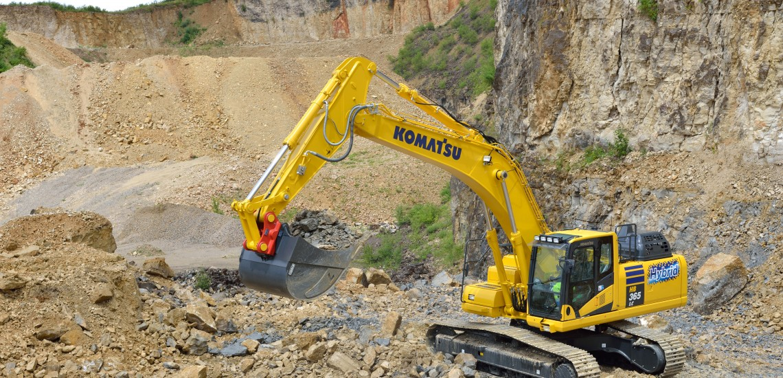 Komatsu HB365LC-3 Hybrid Excavator, CASE D Series CX245D SR Excavator, Caterpillar CAT RP 12000 E Generator