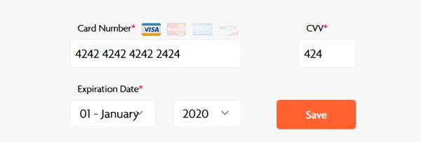 Credit Card Form